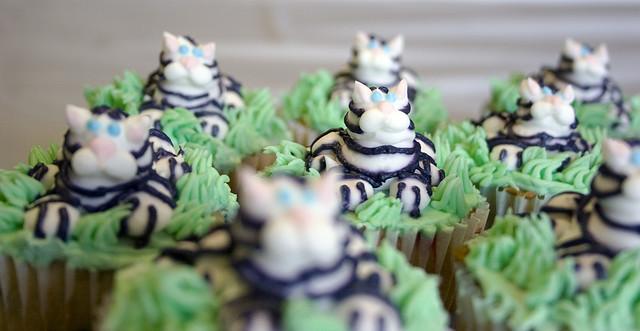 White Tiger Cupcakes
