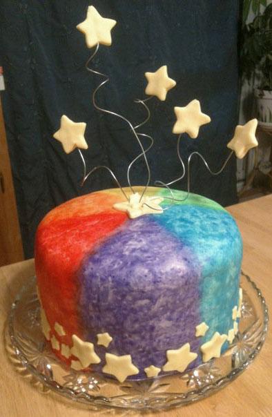 Tie Dye Star Cake