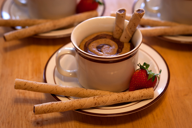 Coffee and Hazelnut Parfait with Chilled Mocha Custard Recipe